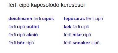 Google kapcsolódó keresések