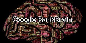 A Google RankBrain grafikai megjelenítése egy szavakból kirakott agy segítségével